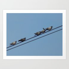 Up on the highwire Art Print