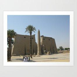 Temple of Luxor, no. 2 Art Print