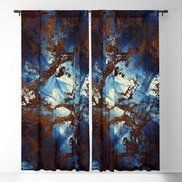 Sapphire and opal colors in an abstract pattern Blackout Curtain