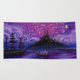 The Lantern Scene Beach Towel
