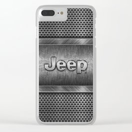 Steel Jeep Clear iPhone Case