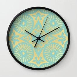 eau de nil flowerpower series Wall Clock