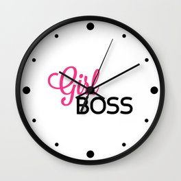 Girl Boss Gym Quote Wall Clock