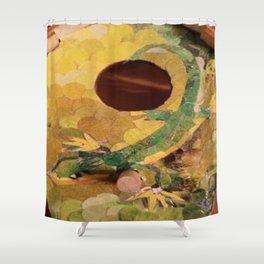 """"""" Lizard """" Shower Curtain"""