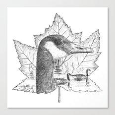 Canada Goose on Maple Leaf Canvas Print