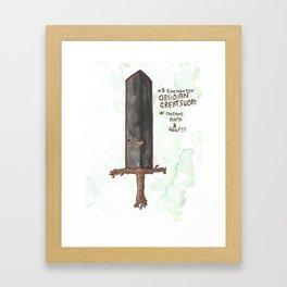 +5 Obsidian Greatsword Of Crushing Death & Grief Framed Art Print