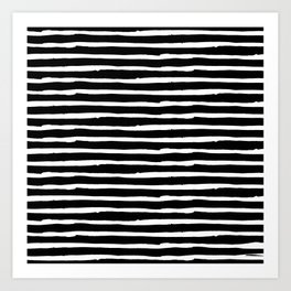 Hand Drawn Stripes Art Print