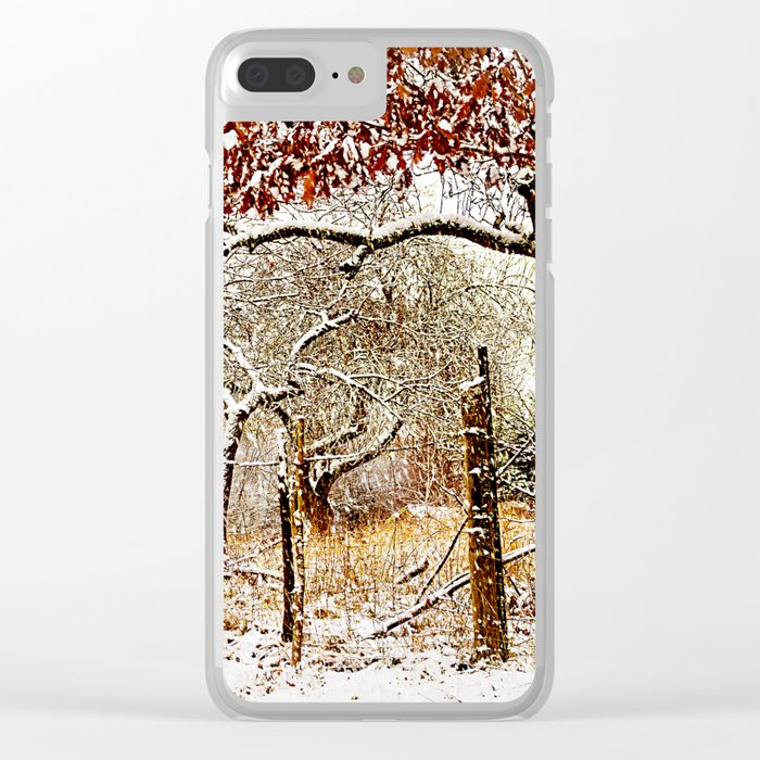 Painterly winter Clear iPhone Case