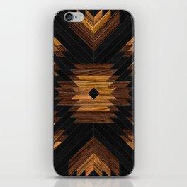 Urban Tribal Pattern 7 - Aztec - Wood iPhone Skin