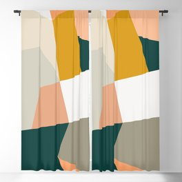 Abstract Geometric 27 Green Blackout Curtain
