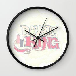 DOUBLE KING: Title Card Wall Clock