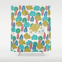 Happy Hermit Shower Curtain