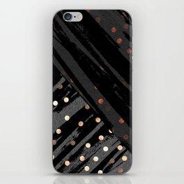 Elegant Contemporary Silver Zebra Polka Dots Pattern iPhone Skin