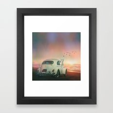 NEVER STOP EXPLORING A SUNDOWN Framed Art Print