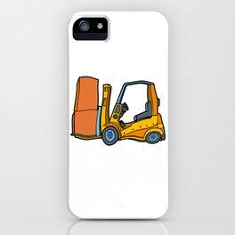 Forklift Logistics Warehouse Work iPhone Case