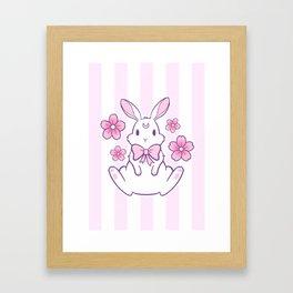 Sakura Bunny 02 Framed Art Print