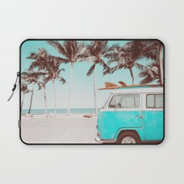Retro Camper Van With Surf Board Laptop Sleeve