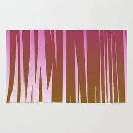 WILD LINES : Pink with gold elements Rug