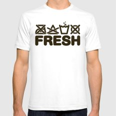FRESH White SMALL Mens Fitted Tee