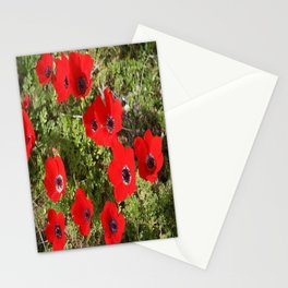 Wild Anemone Flowers In A Spring Field Stationery Cards