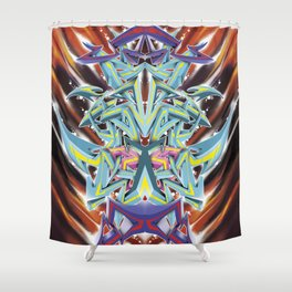 Abstract Graff Shower Curtain