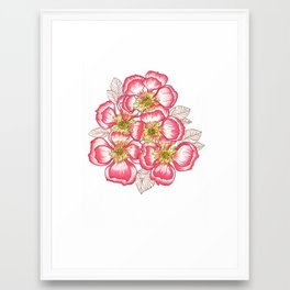 neon pink bouquet Framed Art Print