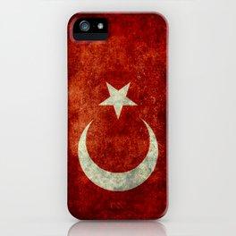 National flag of Turkey, Distressed worn version iPhone Case