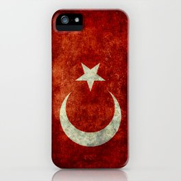 National flag of Turkey, Distressed worn version iPhone Case
