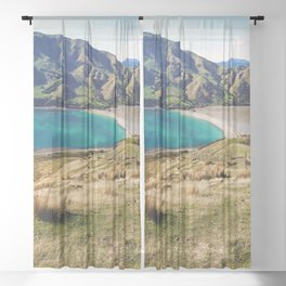 Cable Bay, Nelson - New Zealand Sheer Curtain
