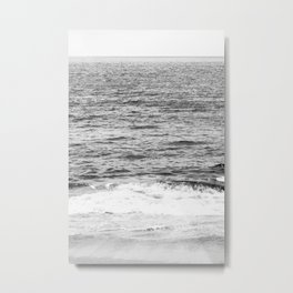 Black & White Ocean Wave Photography Metal Print