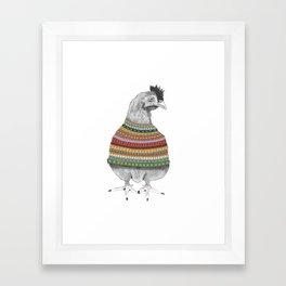 Chicken Fashion Framed Art Print