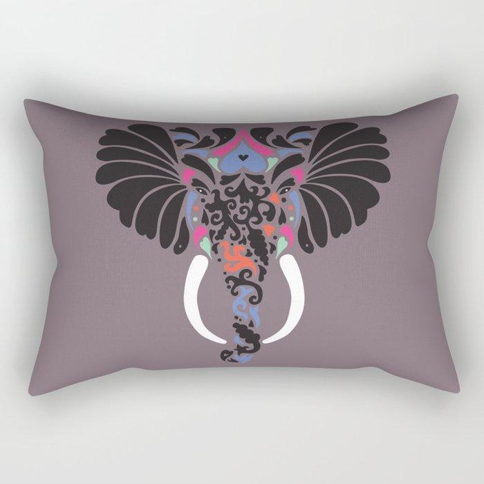 Asian Elephant Rectangular Pillow