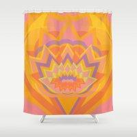 chakra Shower Curtains featuring Swadhisthana Chakra by anabra
