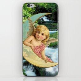 Christmas Card (Moon Waterfall) iPhone Skin