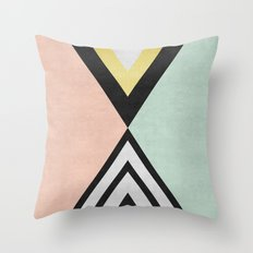 Minimalist fashion and golden I Throw Pillow