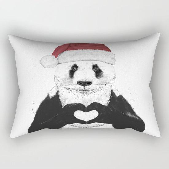 Santa panda Rectangular Pillow