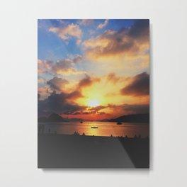 Sunset; Cloud Explosion Metal Print