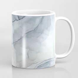 Pastel Blush, Grey and Blue Ink Clouds Painting Coffee Mug