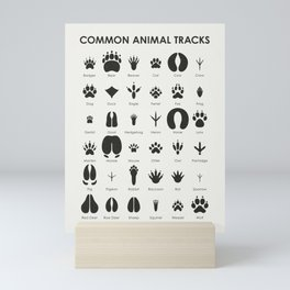 Common Animal Tracks Mini Art Print