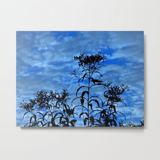Blue Sky Silhouette Metal Print