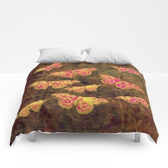Vintage Butterflies Comforters