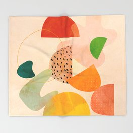 modern art abstract shapes play 1 Throw Blanket