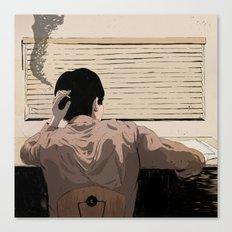 Man at Desk Canvas Print
