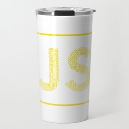 Javascript wordcloud shirt for JS Logo Travel Mug