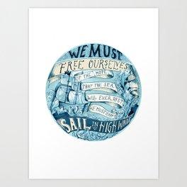 Learn to Sail Art Print
