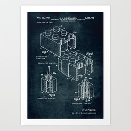 1966 - Components for making structures comprising electrical circuits Art Print