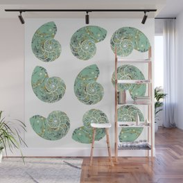 Marbled Chambers of the Nautilus Wall Mural