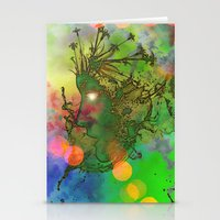 """gemini Stationery Cards featuring """" Gemini """" by shiva camille"""