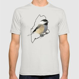 Maine – Black-Capped Chickadee T-shirt