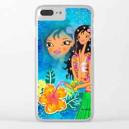 Hula Honey Baby Clear iPhone Case